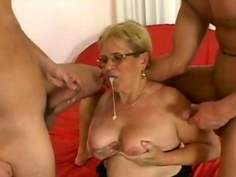 Light haired fat mommy with huge tits and...