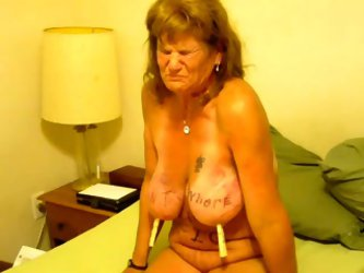 Horny granny in her sexy bikini gets her...