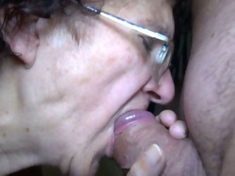 This four eyed granny is a talented cock...