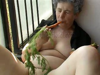 This sex-starved granny has her own of...