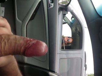 Flashing and cumming for a cougar