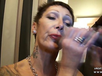 Busty french mature hard sodomized in...