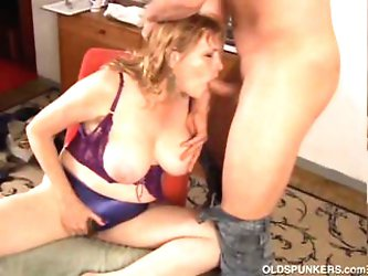Cock hungry mature babe loves to suck dick...