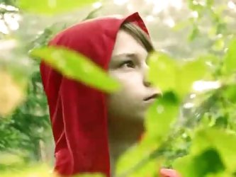 Latvian Little Red Riding Hood gets eaten...