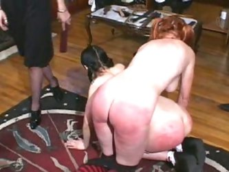 Naughty slaves get spanked