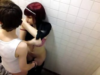 Voyeur catches emo teens fooling around in...