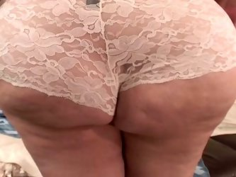 Dirty minded fat MILF exposes her giant...