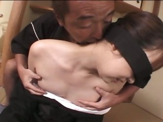 Innocent asian babe mistress by an old dude !