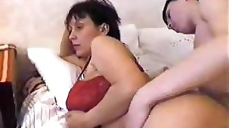 Russian Step-Mom Wakes Up Her Step-Son...