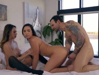 Horny Alex Legend fucks two sensual and...