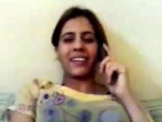 Sassy Indian chick is smoking chatting...