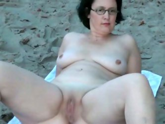 My four eyed brunette wife loves to expose...