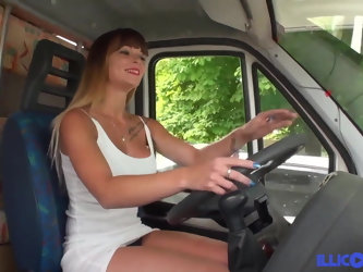 Tiffany Leiddi fucked in a camping car