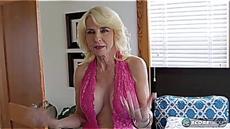 Sexy GILF assfucked by 2 younger guys