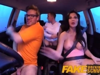 Fake Driving School double creampie for...
