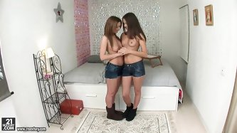 Ava and Lizzie are two petite teen babes...