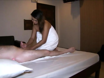 Massage, blowjob and anal with Thai hooker
