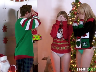 Christmas threesome with Britney Light and...