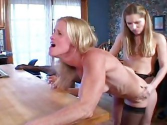 Old Milfs & Young Lesbians - Kitchen...