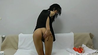HotKinkyJo 9 balls in ass