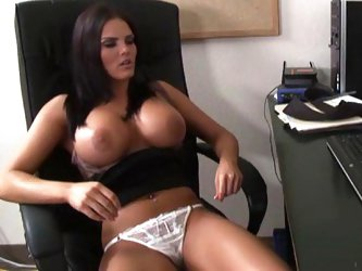 Interrupted masturbation session in her...