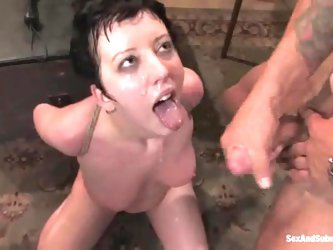 Cherry Torn gets tied up and gangbanged...