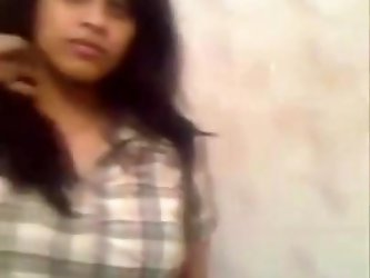 Indian Teen Undresses In Washroom