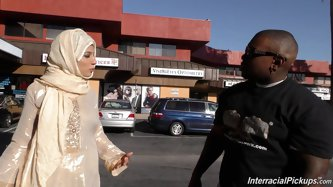 Religious Muslim Woman In A Hijab Enjoys...