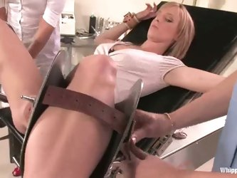 Two sexy nurses are going cruel on their...