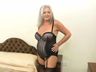 61 yr old granny shows all