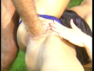 A sexy outdoor fist fucking and anal fucking