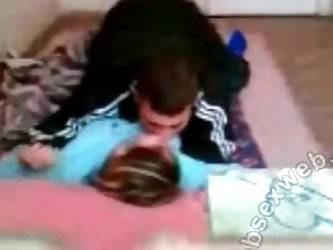 Arab couple fucking on the floor private...